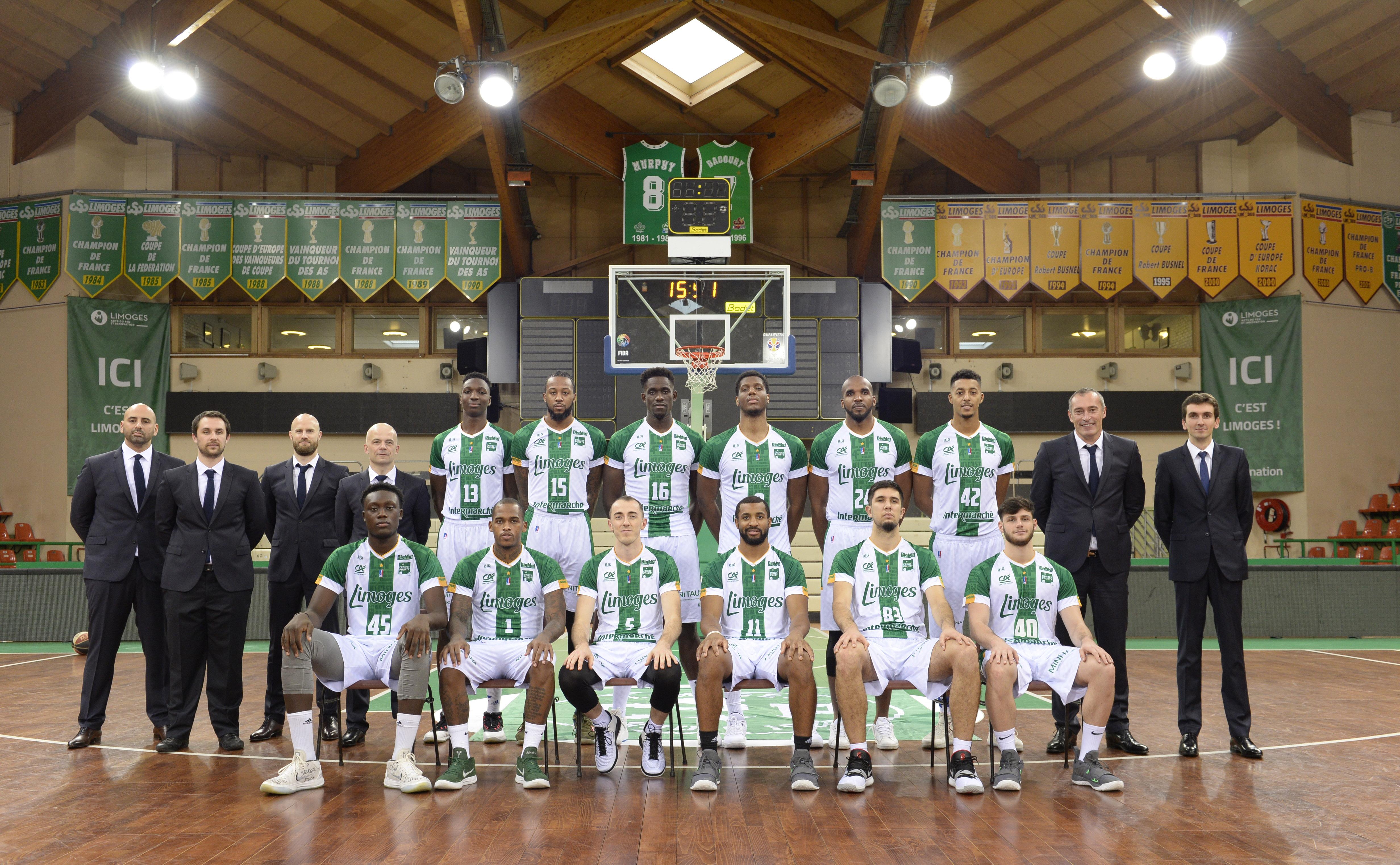 Photo équipe Limoges CSP 2018-2019